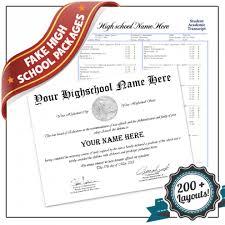high school diploma name fake high school diploma template with transcripts buyafakediploma com