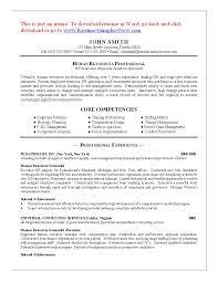 Entry Level Human Resources Resume Ajrhinestonejewelry Com