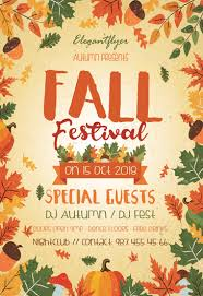 Fall Festival Flyer Free Template Fall Festival Flyer Template Fall Festival Free Flyer Psd Template
