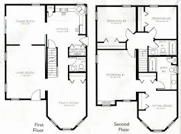 Marvelous 2 Bedroom 2 Bath Floor Plans Luxury 2 Story 4 Bedroom Floor Plans New 2  Story