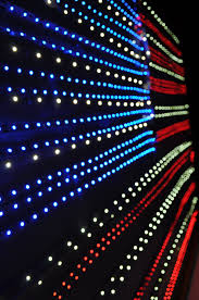 Led Light Heat Generation Red White And Blue Flexible Strip Lighting In The Inspired