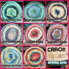 Caron Cakes Color Chart Caron Big Cakes Summer 2018 Caron Cakes Patterns Caron