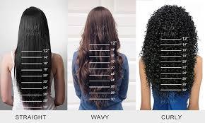 Straight Hair Length Chart Hair Length Natural Looking Virgin Human Hair Wigs From