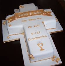 Cross Cake For A First Communion This Cake Was For A Twins Flickr