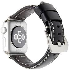 product images gallery guoaivo leather strap replacement watch band for apple watch 38mm black