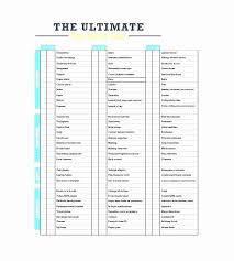 Travel Packing List Template Unique Blank Packing List Template