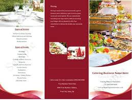 Pamplet Templates Catering Company Flyer Template Pamphlet Food Templates Puntogov Co