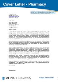 Cover Letter Example For Pharmacist Job New Pharmacist Letters With