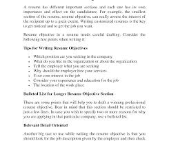 What To Put In The Objective Section Of A Resume Awesome Resume Objectives 56