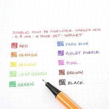 Stabilo Point 88 Fineliner Marker Pen Wallet Set 10 Colors 0 4mm Item No B05 25 A1r2b153