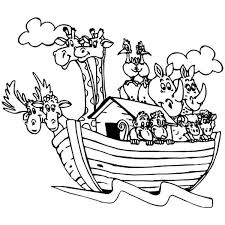 Pair Of Animals In The Noahs Ark Colouring Page Happy Colouring