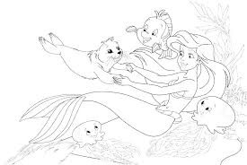 Little Mermaid Free Coloring Pages Barbie Mermaid Coloring Pages