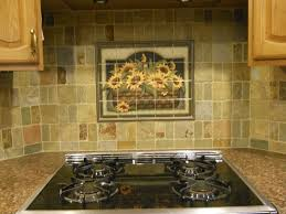 Mural Tiles For Kitchen Decor Sunflower Basket Tile Mural Decorative tile backsplash Tile 9