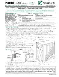 James Hardie Plank Coverage Chart Hardi Plank Siding Installation Instructions Manualzz Com