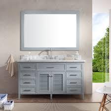 bathroom features gray shaker vanity: ariel bath kensington ampquot single bathroom vanity set with mirror