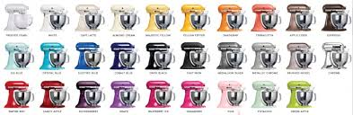 kitchenaid mixer color chart. kitchenaid color names win a 4.8l artisan stand mixer . chart i