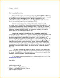 4 Scholarship Recommendation Letter Quote Templates