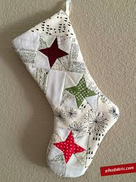 Quilted Christmas Stocking Pattern Fascinating Celestial Stocking For The Alison Glass Celestial Gift Along Pile