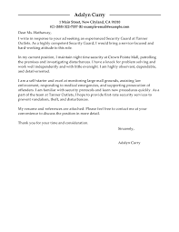 Security Supervisor Cover Letter Best Security Guard Cover Letter Examples Livecareer