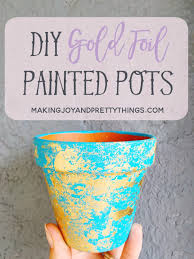 diy gift for the office diy gold foil painted pots diy gift ideas for