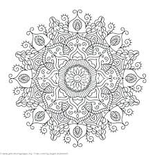 Advanced Mandala Coloring Pages Pdf Round Mandala Coloring Pages