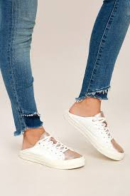 steven by steve madden vertue rose gold sneakers white leather sneakers 89 00