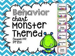 Behavior Chart Monster Themed