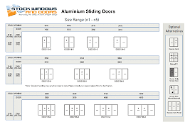 sliding glass door sizes images