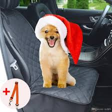 pet seat cover waterproof dog mats non slip car seat cover for small medium dogs pet protection dog mat with seat belt for cars suvs truck pet car seats