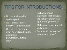 tips for writing a great essay write a powerful introduction use 4 do not address the reader