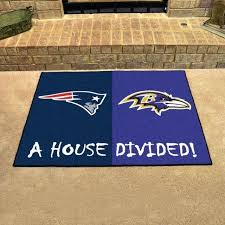 new patriots ravens house divided all star area rug mat furniture s