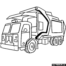 Garbage Truck Coloring Page trucks online coloring pages page 1 on jacked up truck coloring pages
