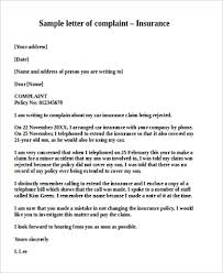 Collection Of Solutions Complaint Letter To Health Insurance Company