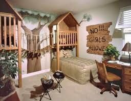 Maybe modify this into tree house headboards?