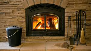 wood burning in a fireplace