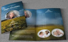 funeral flyer funeral pamphlet template beautiful elegance funeral program stylish