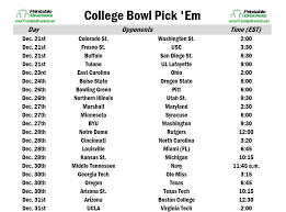 college football bowl pick em