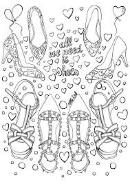 Collage Makeup Coloring Pages Print Coloring