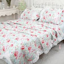 251 best Cotton quilting .patchwork quilts &bedspread images on ... & Cheap quilted cotton bedspread, Buy Quality blue quilt directly from China  cotton bedspreads Suppliers: white green blue bedspread rustic rose flower  quilt ... Adamdwight.com