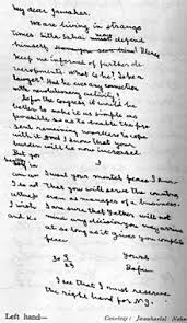 handwriting gandhi s handwriting letter to jawaharlal nehru 30 1925