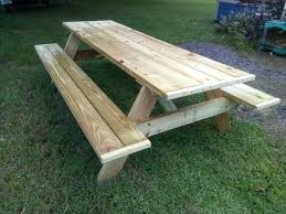wooden picnic tables treated wood picnic tables round wooden picnic table plans