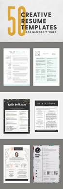 17 best ideas about resume fonts graphic designer 50 creative resume templates you won t believe are microsoft word