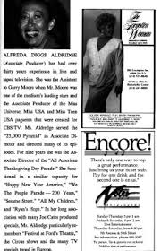 Alfreda D. Aldridge   Playbill