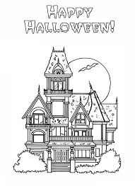 Small Picture Haunted House Coloring Pages Printable Free Hallowen Coloring