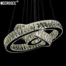 meerosee hot 1 ring 2 ring 3rings led k9 crystal chandelier light lamp res de cristal suspension modern led light fixture md2226 led lighting led