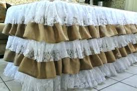 lace table cloths burlap and lace table cloth burlap and lace round tablecloths burlap tablecloth lace overlay lace burlap ruffle tablecloth