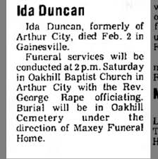 Ida Dangerfield Duncan Obituary, pg 1 - Newspapers.com