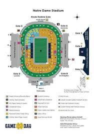 Notre Dame Stadium Detailed Seating Chart Gadgets 2018 Notre Dame Stadium Map