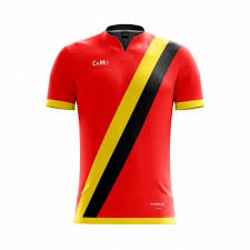 red yellow and black custom football jersey