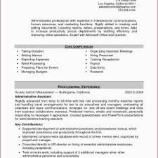 Resume Examples Administrative Assistant Valid Sample